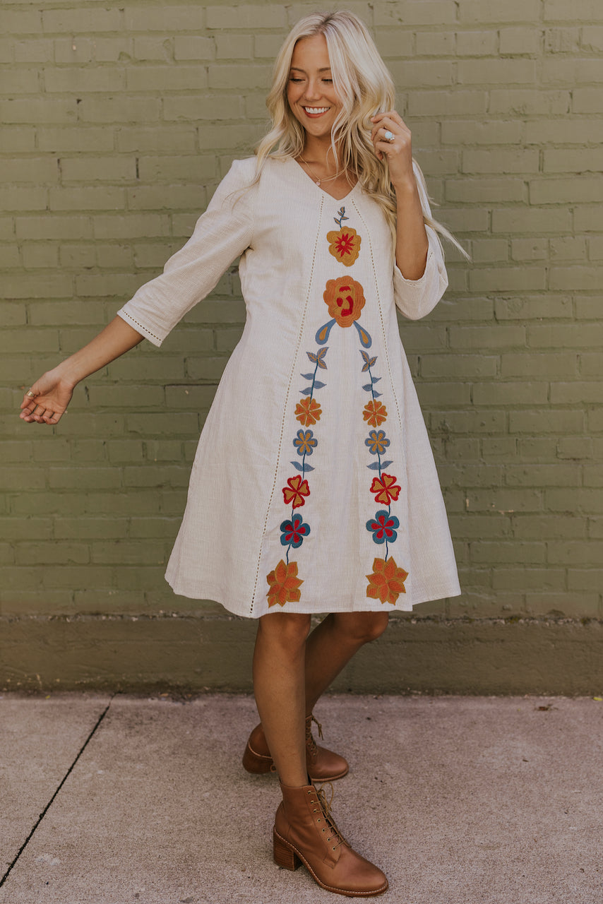 White floral dress | ROOLEE