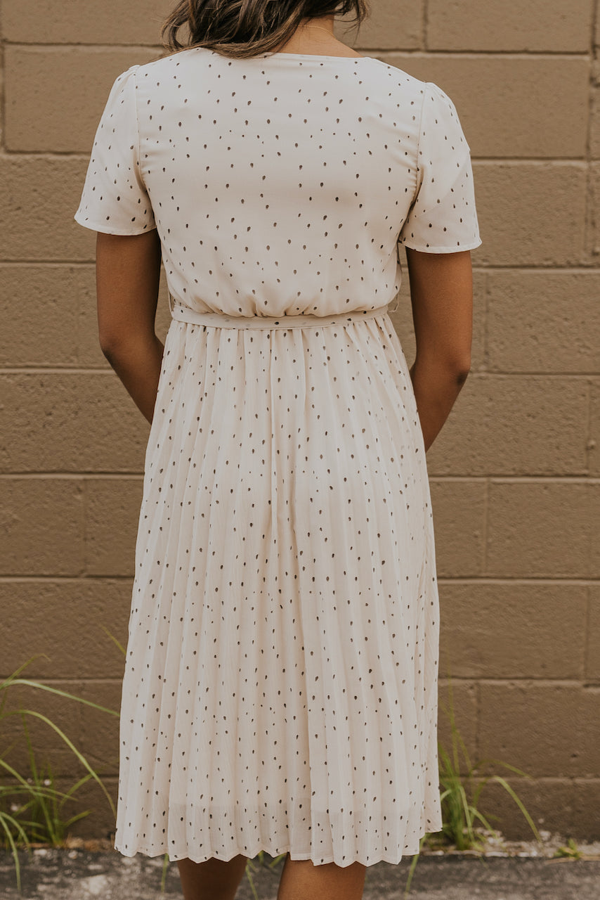 White pleated midi dress | ROOLEE