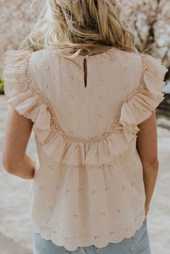 Eyelet Lace Blouse | ROOLEE
