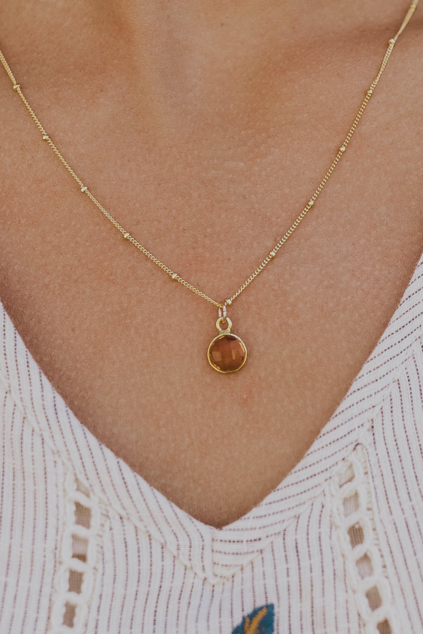 Afterglow Gemstone Necklace