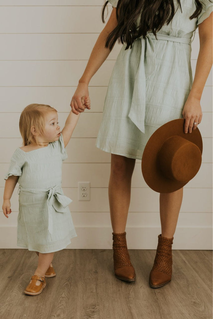 Mint Blue Girls Matching Easter Dresses | ROOLEE