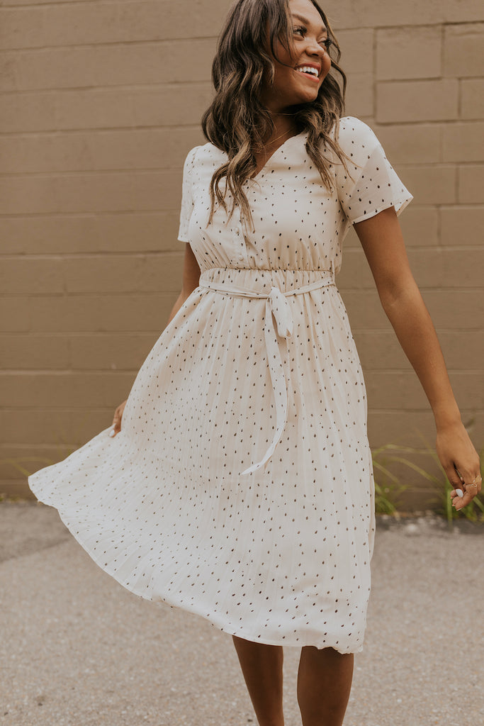 White polka dot dress | ROOLEE