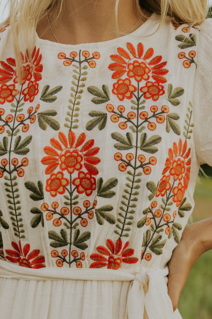 Bright summer embroidery dresses | ROOLEE