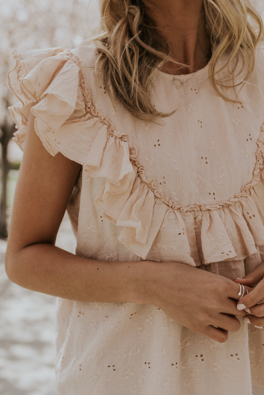 Ruffle Sleeve Lace Blouse | ROOLEE