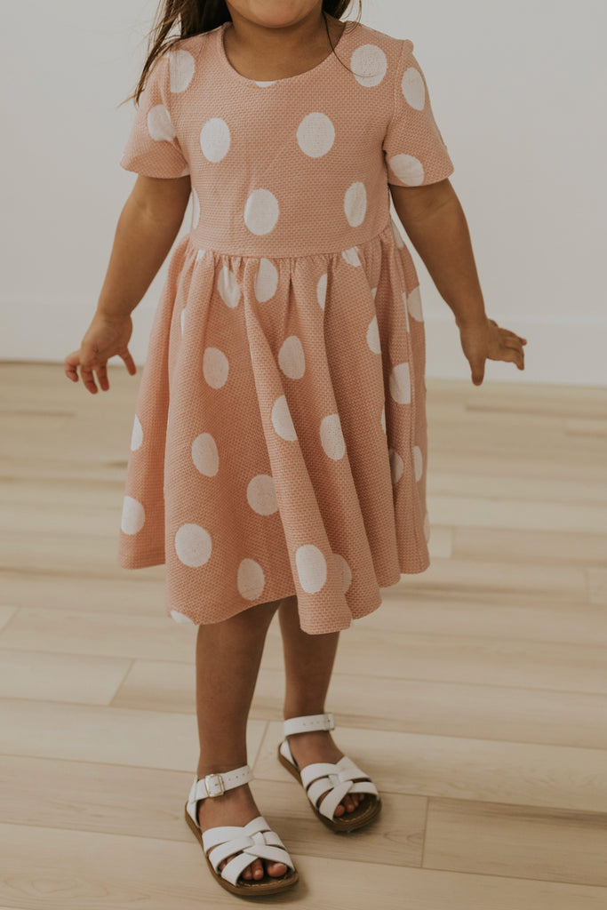 Girls Pink Polka Dot Dresses | ROOLEE