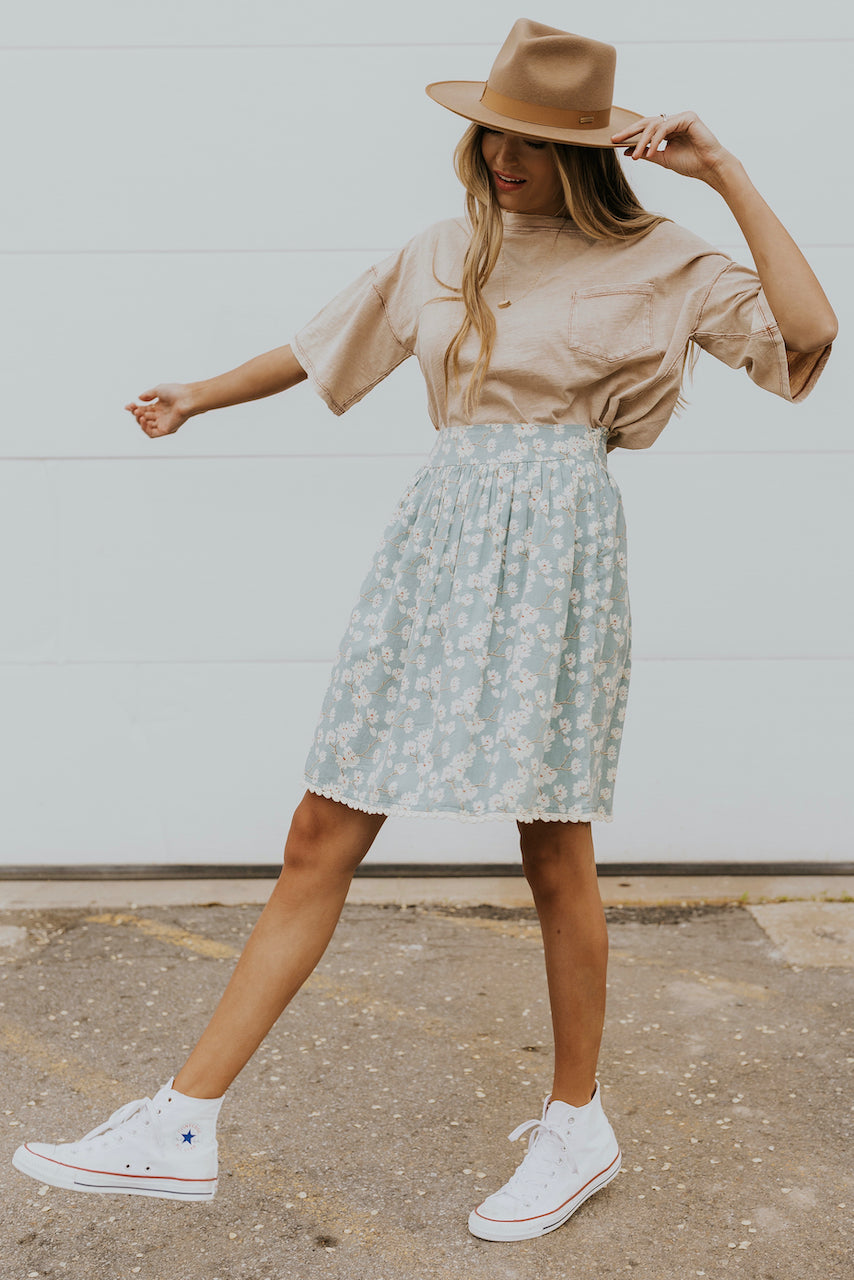High waist floral skirts for summer | ROOLEE