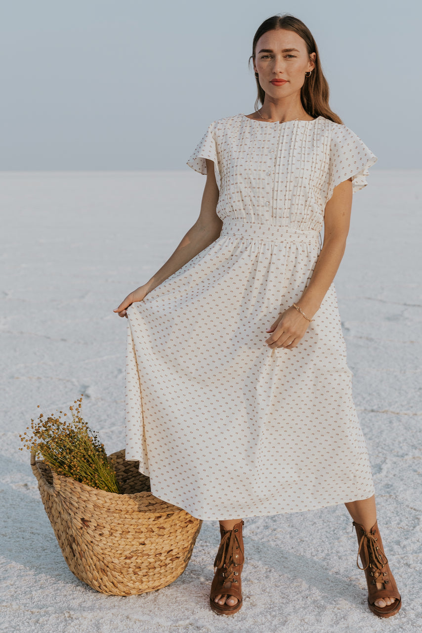 Yellow cream spotted dress | ROOLEE