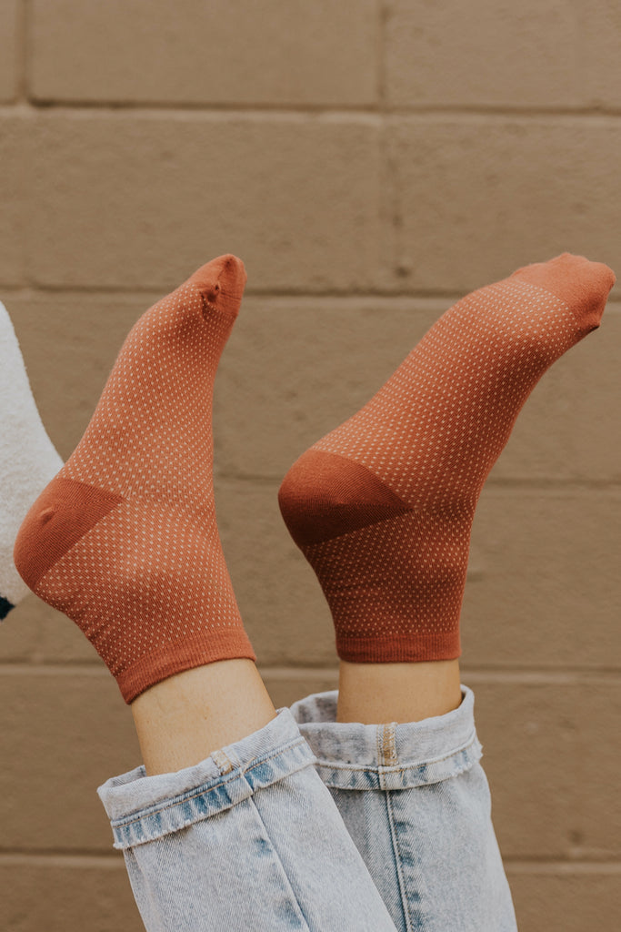 Rust socks for fall | ROOLEE