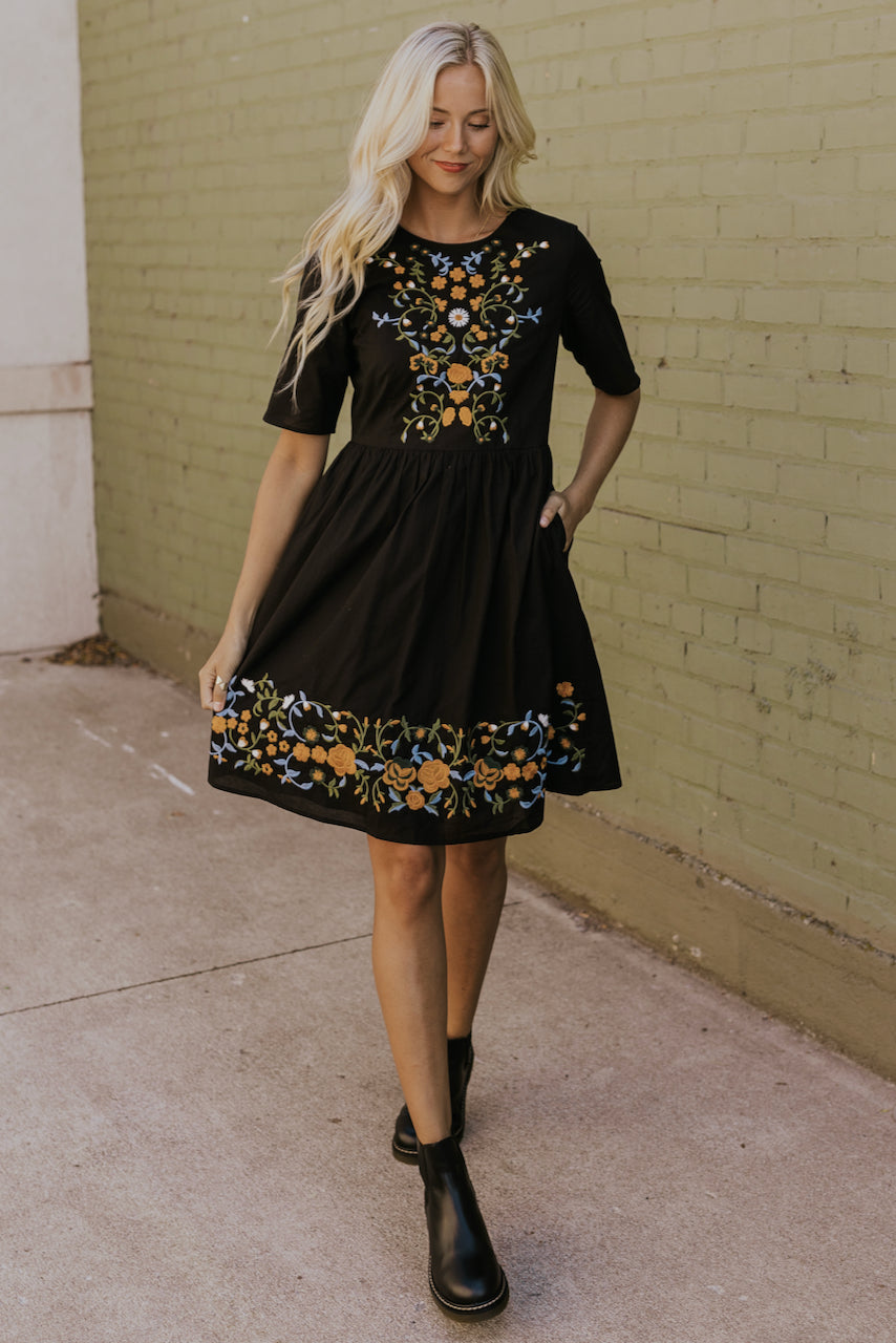 Moira Embroidered Dress