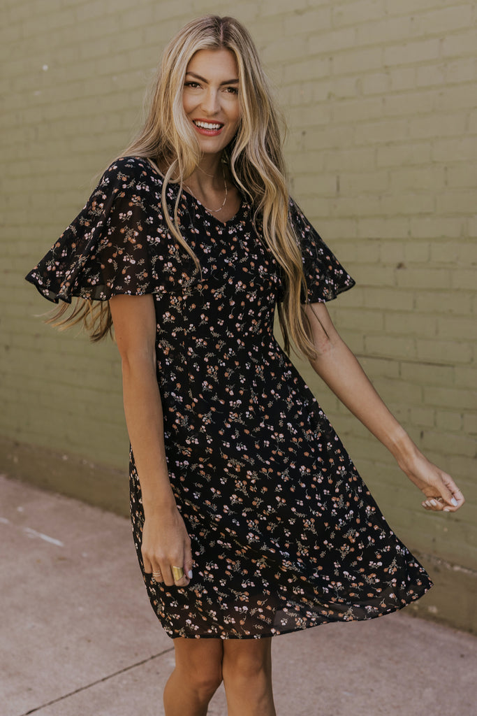 Floral fall dress | ROOLEE