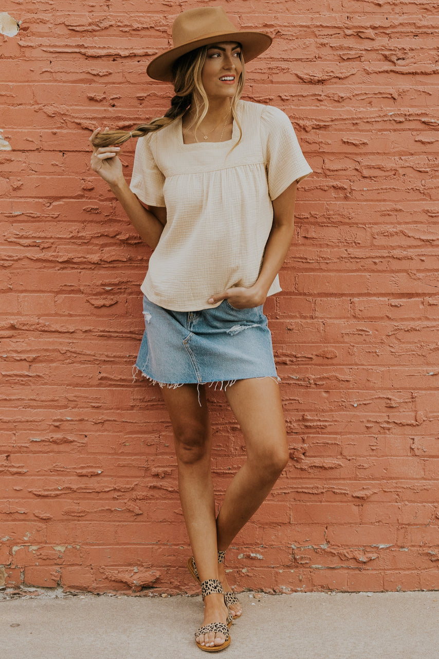 Creamy blouses for summer | ROOLEE