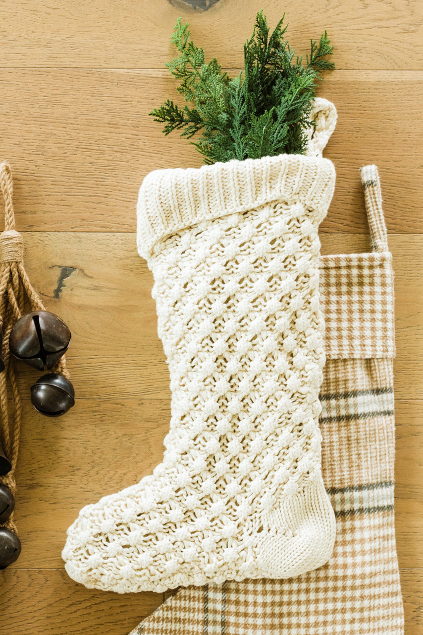Knit cream stocking | ROOLEE