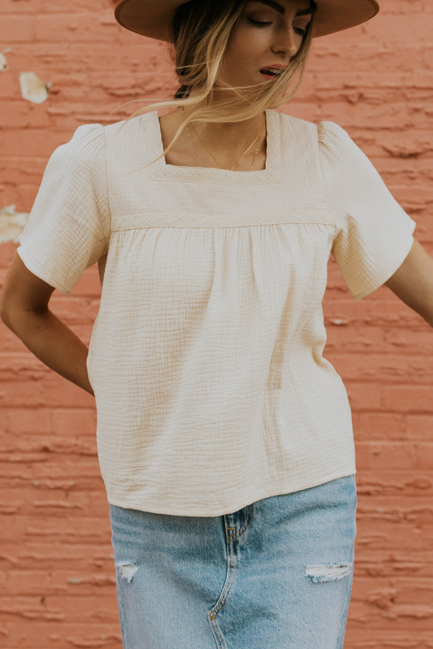 White cream tops for warm weather | ROOLEE