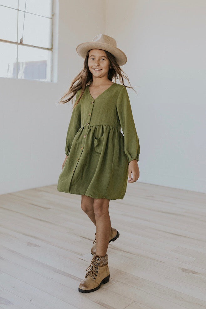 Cute green sunday dresses for girls | ROOLEE