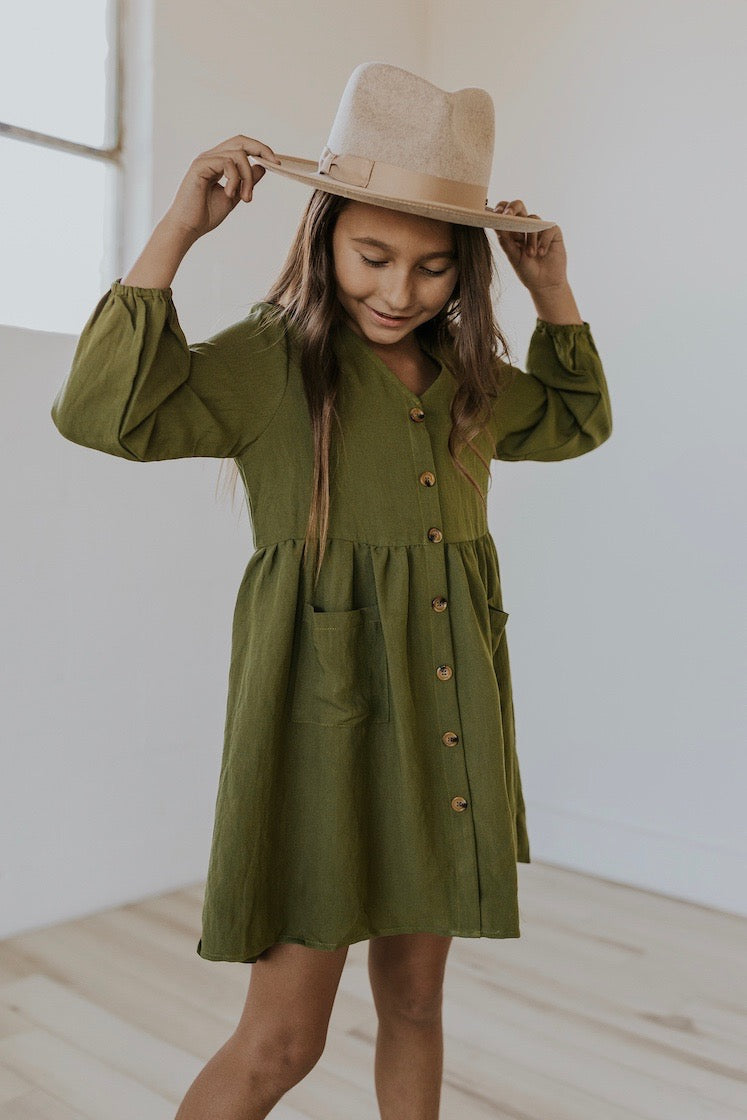 Long sleeve winter dresses for girls | ROOLEE