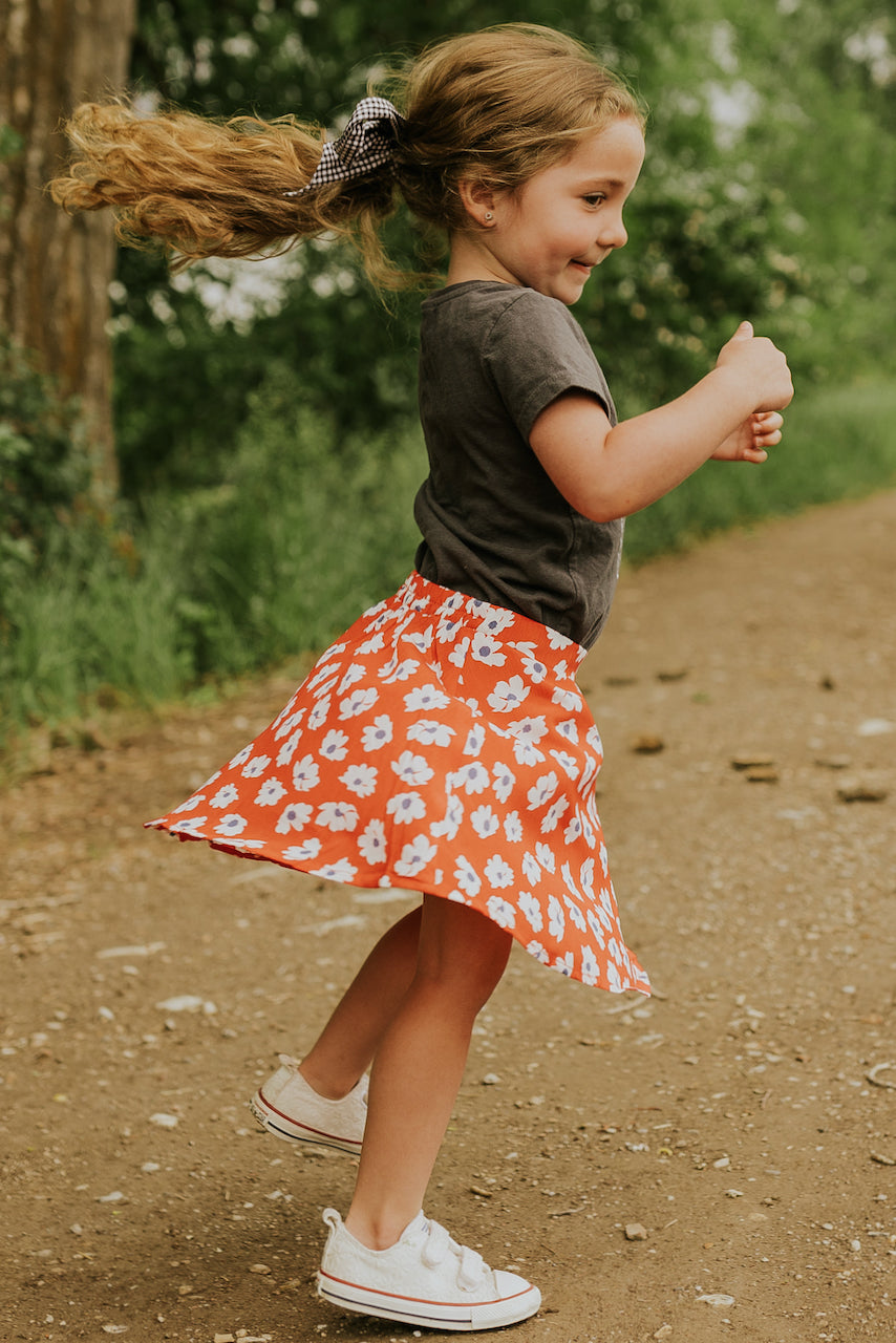 Girls Floral Skirts | ROOLEE