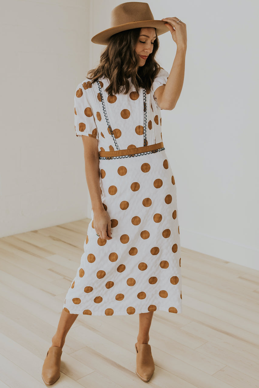 Spring polka dot womens dress | ROOLEE