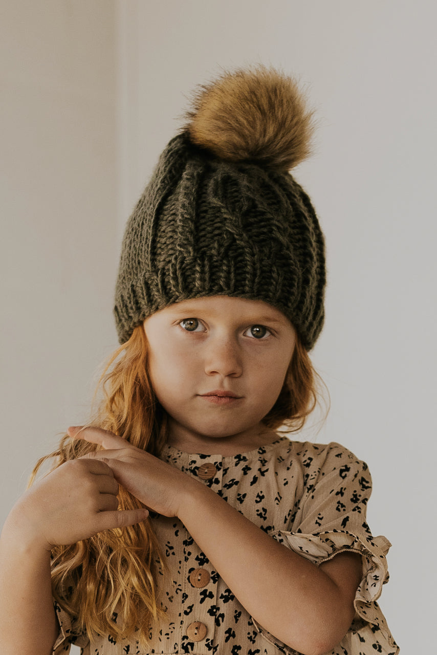 Kids cableknit beanie | ROOLEE