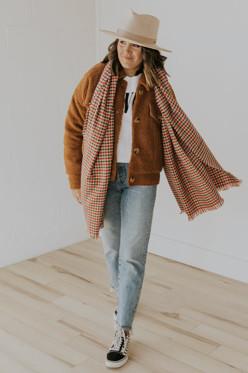 Brussels Plaid Scarf