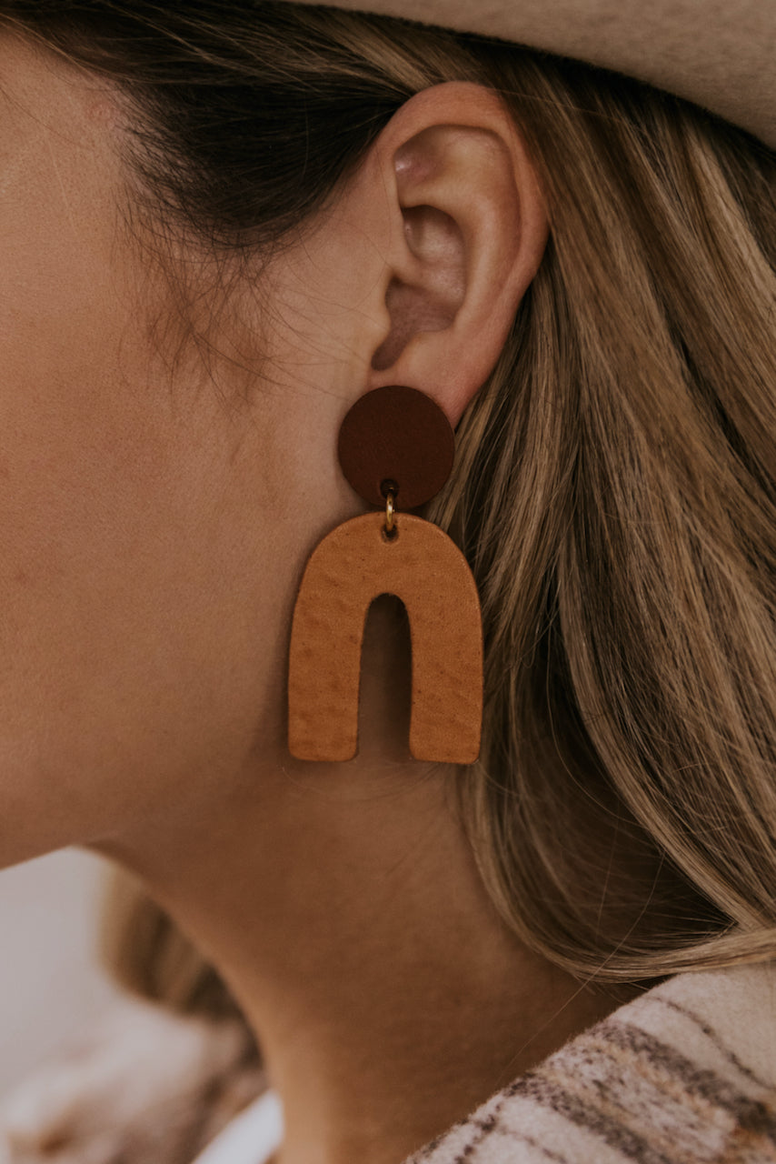 The Archie Leather Earring