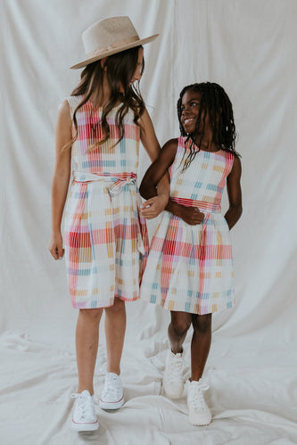 SALT Mini Atherton Madras Dress