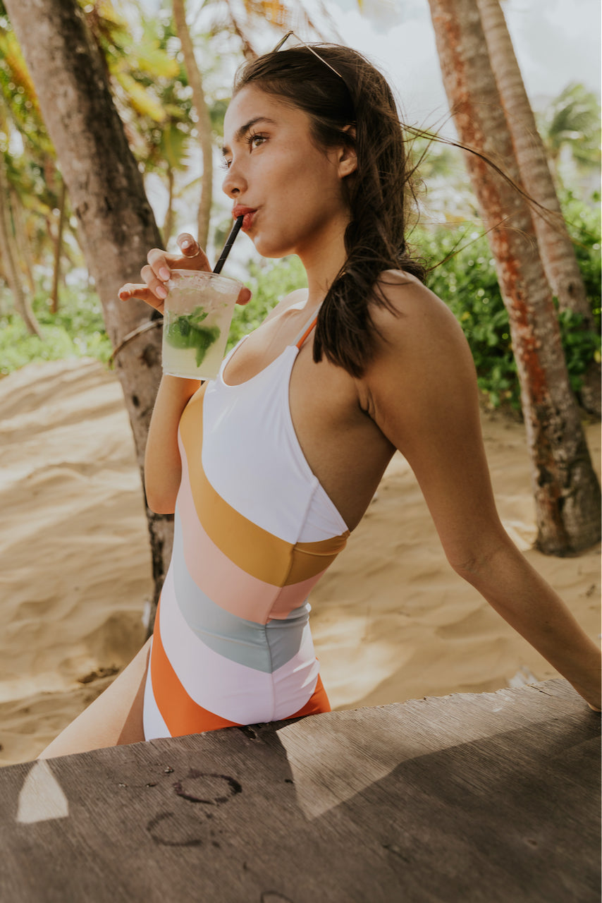 Gulf Breeze Stripe One Piece