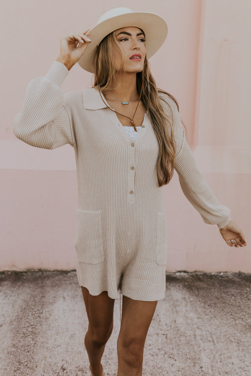All In My Head Ribbed Romper