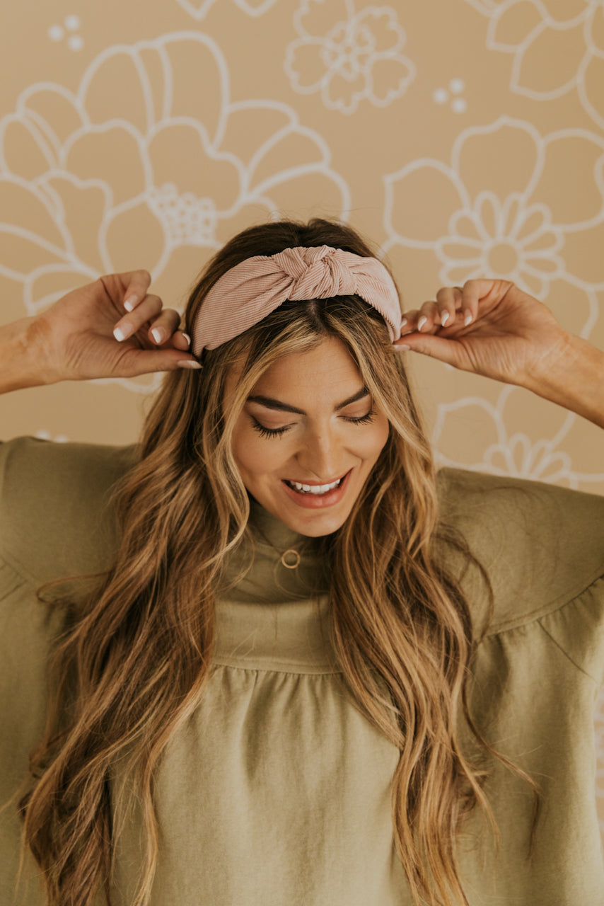 Corduroy Knotted Headband for Women | ROOLEE