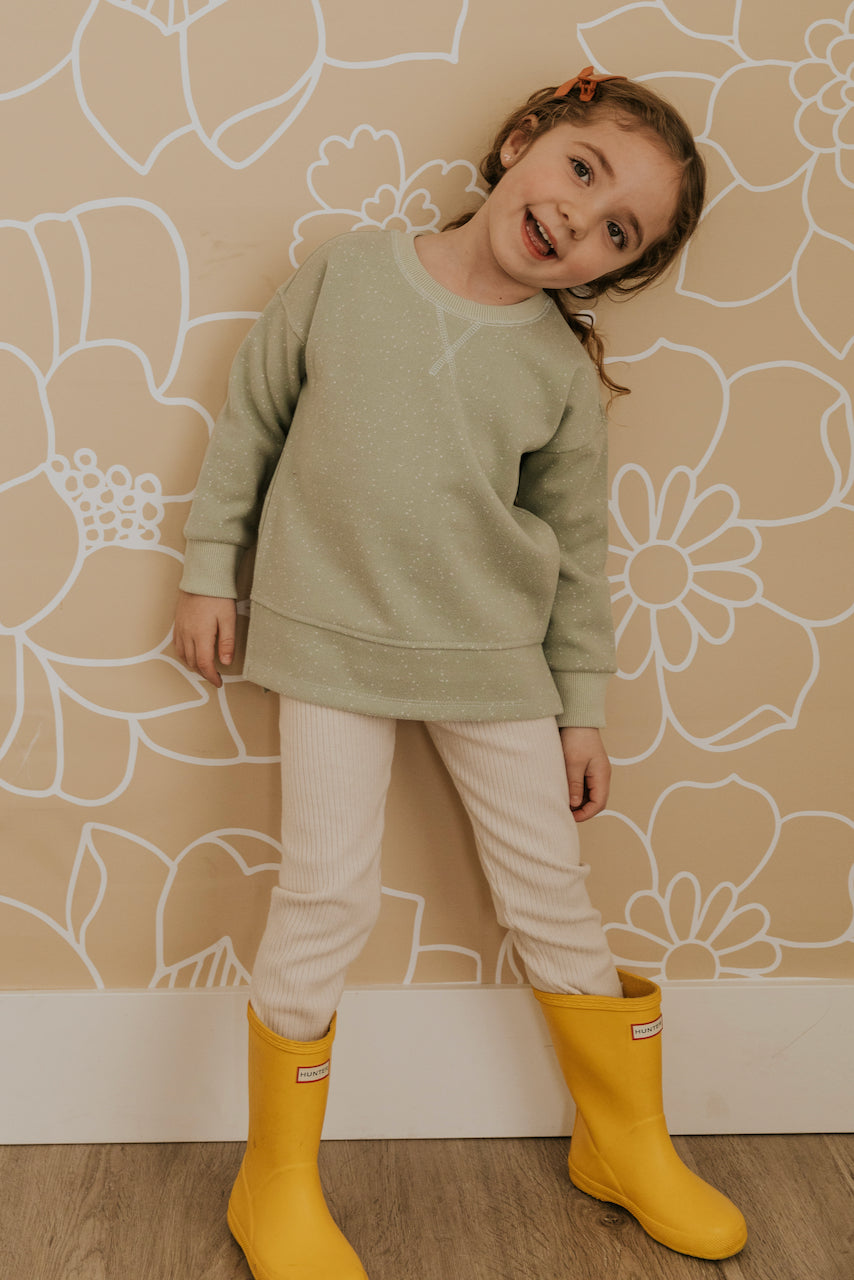 Mint Pullover for Little Girls | ROOLEE