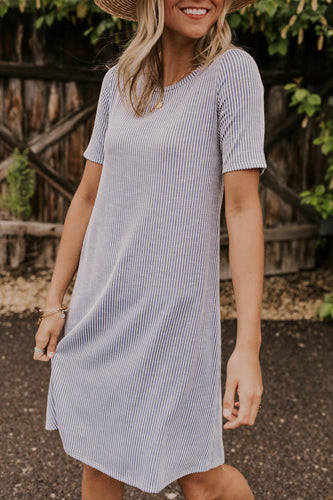 Blue Summer Stripe Dress | ROOLEE