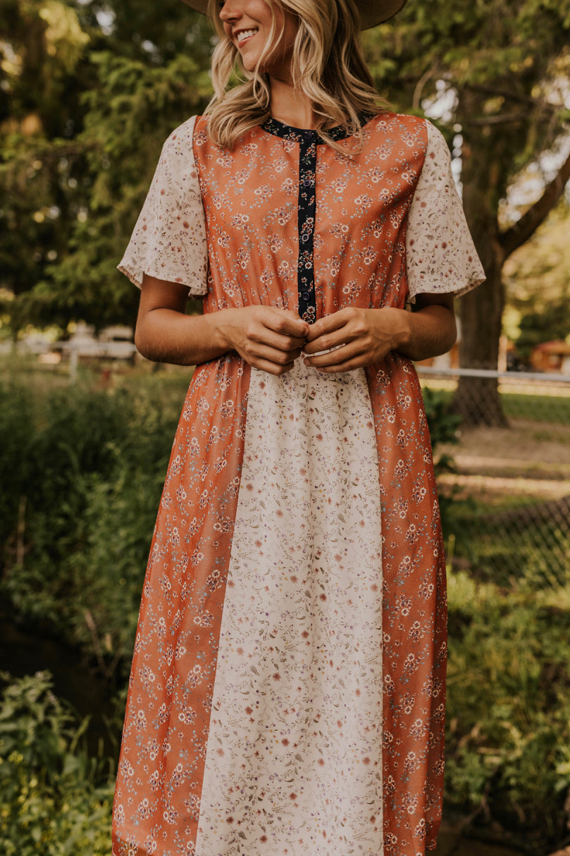 Paneled Floral Summer Dress | ROOLEE