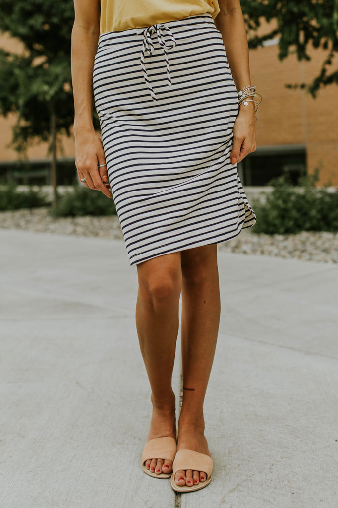 Stripe Knit Skirt | ROOLEE