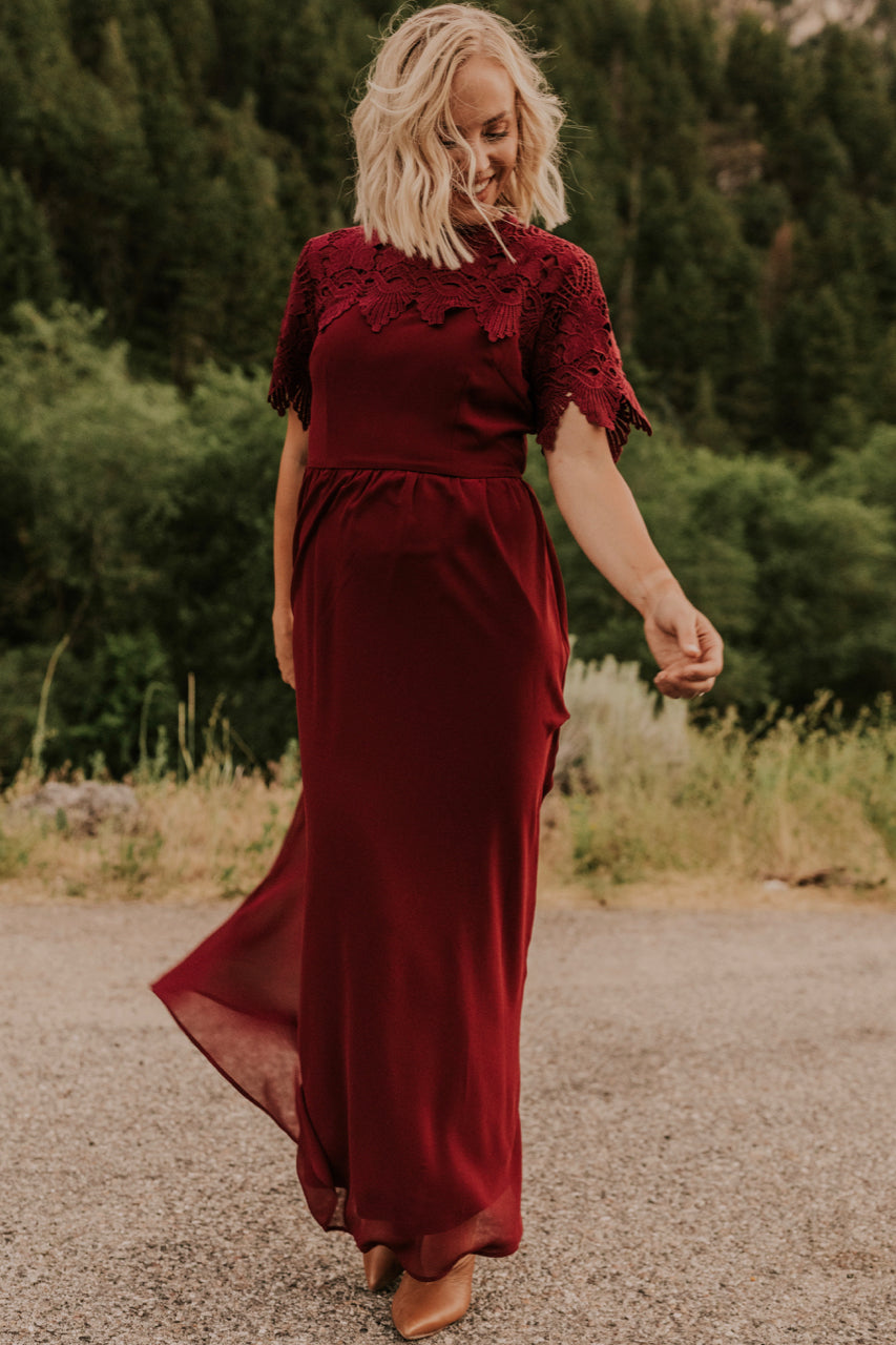 Dark Red Bridesmaid Dress | ROOLEE