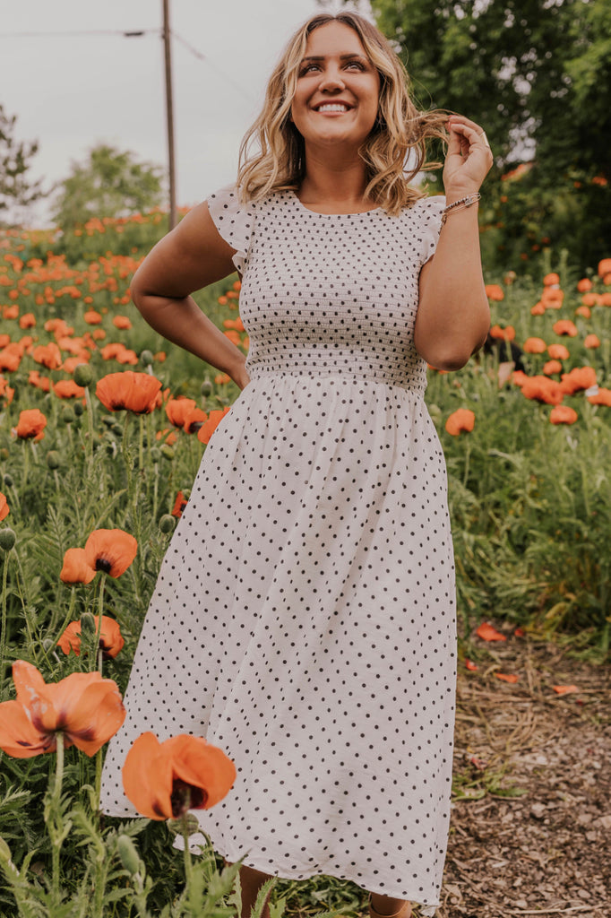 Polka Dot Maxi Dress | ROOLEE