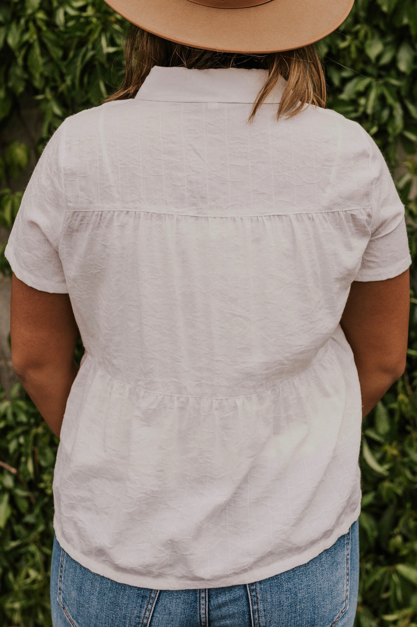 Women's White Summer Blouse | ROOLEE