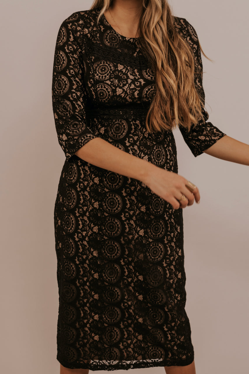 Black Lace Formal Dresses | ROOLEE