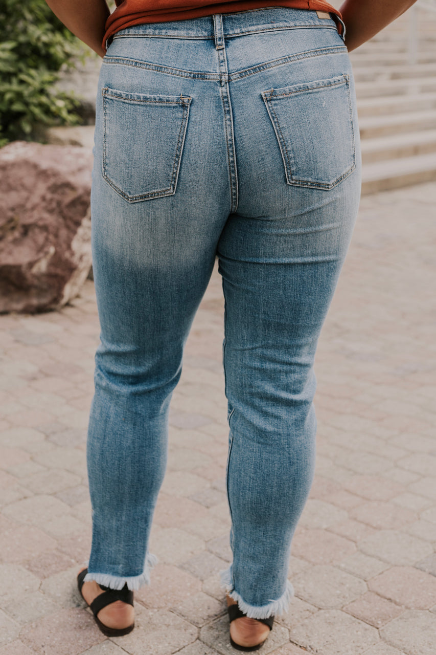 Cute Distressed Jeans for Women | ROOLEE