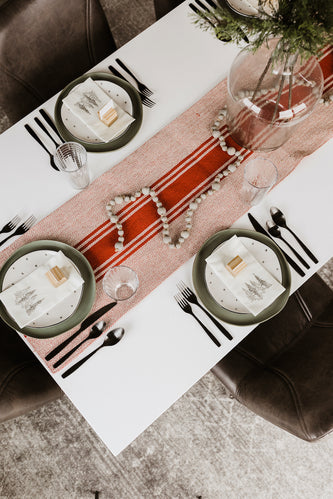 Red Stripe Table Runner | ROOLEE