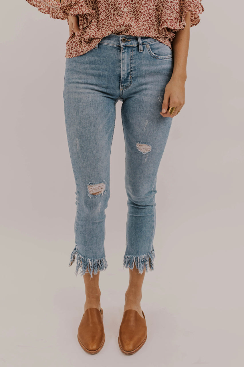 most popular perfect quality special selection of Free People Great Heights Frayed Skinny Jeans