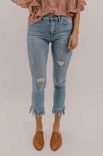 Frayed Skinny Jeans | ROOLEE