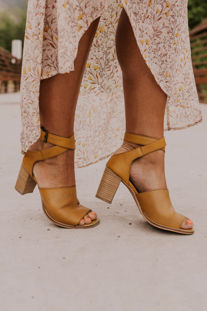 Mustard Heels for Women | ROOLEE