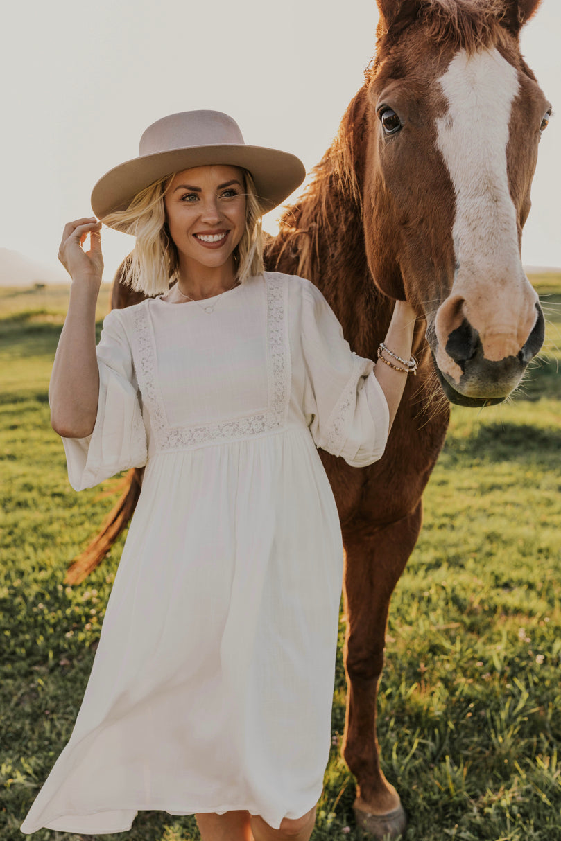 White Embroidered Dress | ROOLEE