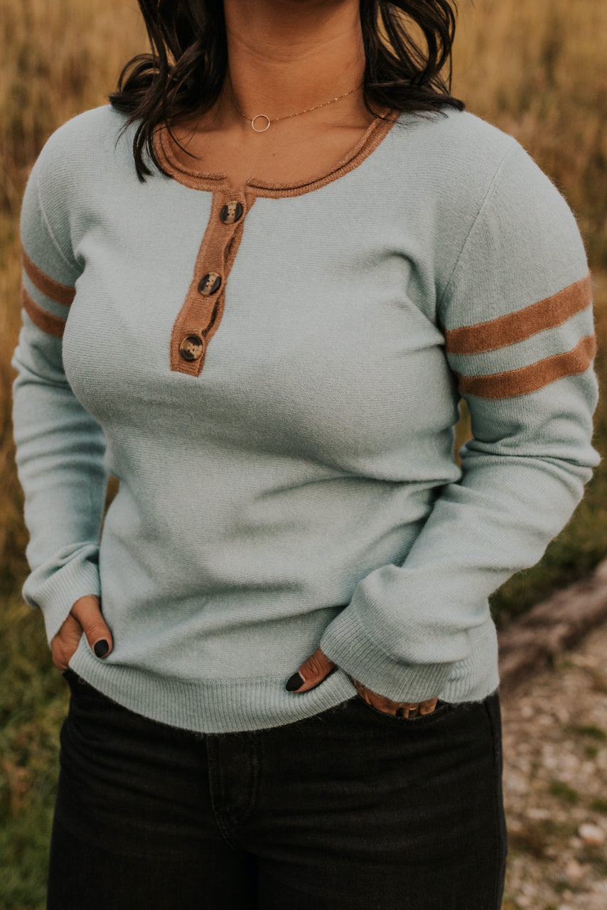 Long Sleeve Top with Buttons | ROOLEE