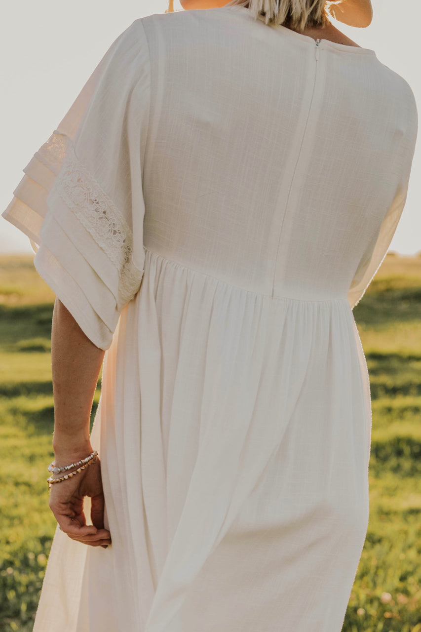 Embroidered Modest Dress | ROOLEE