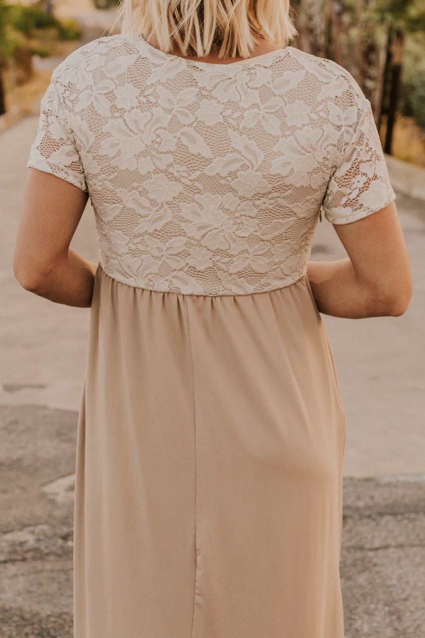 Neutral Lace Maxi | ROOLEE