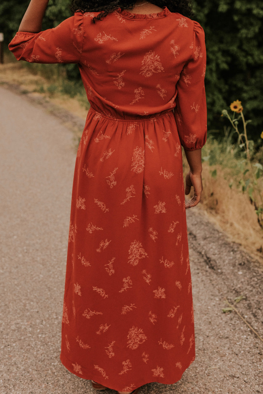 Maxi Botanical Dress | ROOLEE