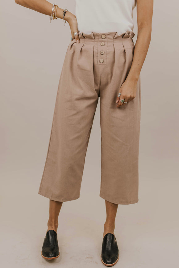Cute Button Trousers for Women | ROOLEE Bottoms