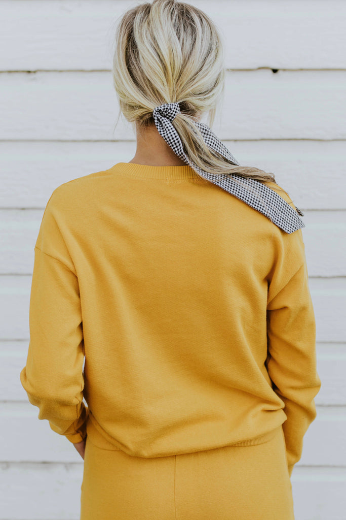 Gold Yellow Cozy Pullover | ROOLEe