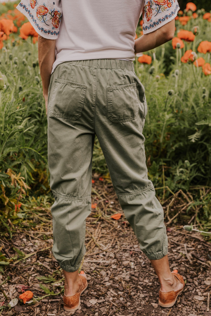 Casual Green Joggers | ROOLEE