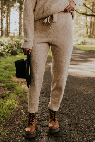 Thick kit cream jogger set | ROOLEE